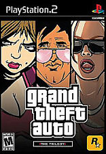 GRAND THEFT AUTO:  TRILOGY (PS2, 2006) (1110) (ALL 3 DISCS) FREE SHIPPING USA