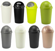 25 L Italian Design Plastic Bullet Bin Kitchen Office Rubbish Waste Dustbin New