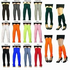 Women Fashion Candy Color Pair Knee High Leggings Socks Winter Long Leg Warmers