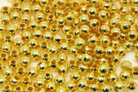 500 x 2mm Gold Plated Smooth Spacer Beads Findings Craft Beading i101