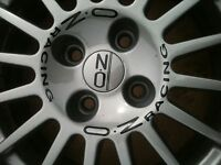 "12x 16""/17""/18"" OZ RACING ALLOY WHEEL STICKERS.SAXO,CLIO,CIVIC,VW-SCOOBY-TOYOTA"