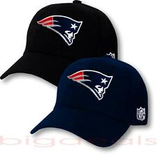 New England Patriots Cap Velcro NFL Logo Hat Embroidered Football On Field 3D