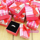 Wholesale 24pcs Gift Boxes jewellery finger ring gift case box 2181