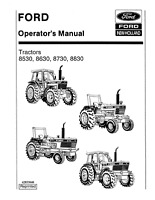 FORD NEW HOLLAND TRACTOR 8530 8630 8730 8830 OPERATORS MANUAL
