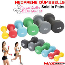Neoprene Dumbbells Aerobic Weight Fitness Arm Exercise Training Set Hand Pair