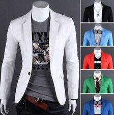 New Stylish Men's Casual Slim Fit One Button Suit Blazer Coat Jacket Top