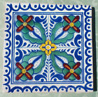 """12~MEXICAN TALAVERA POTTERY 6"""" tile Hand Painted Hand made + Venice Italy CD"""