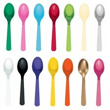 20 Reusable Plastic SPOONS (Amscan) (Birthday/Party/Tableware)
