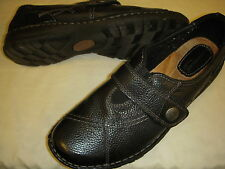 Earth Origins Evelyn Leather Adjustable Monk Strap Slip-On Shoes Womens Sizes +