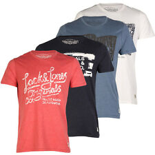 JACK & JONES NEW MENS PRINTED DESIGN CREW NECK SHORT SLEEVE TSHIRT ALL SIZE