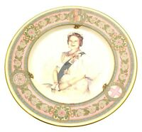 Caverswall The Queen Mother plate 80th birthday designed by Stephen Barnsley