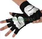 Men PU Leather Driving Motorcycle Bike Sport Fingerless Gloves Fitness