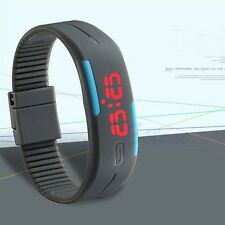 Women Men Waterproof LED Bracelet Watch Silicone Electronic Sports Touch Watches
