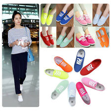 New Women's Casual Sneaker Flat Shoes Walk & Driving Shoes Lace Up Canvas shoes