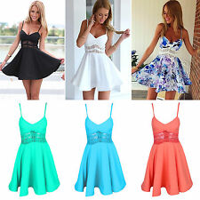 Sexy Women Evening Party Cocktail Mini Dress Floral Casual Summer Beach Sundress