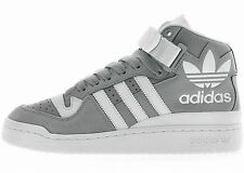 ADIDAS FORUM MID RS XL Grey-White re-style logo leather hip hop old school NEW