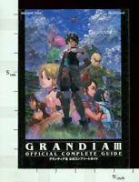 GRANDIA III 3 Official Complete Guide Book Japan SE97*
