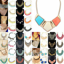 New Women's Fashion Crystal Chunky Choker Collar Pandent Chain Necklace Jewelry