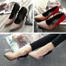 New Summer Lady Slip On Sandals Pointed Toe Women High Heel Stilettos Party Shoe