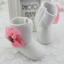 Trendy 3 Color Toddlers Baby Breathable Booties Kid Girl Flower Winter Shoes B18