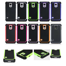 For iPhone Silicone Rigid Back Hard Case Cover Hybrid Protect Impact Anti-Shock