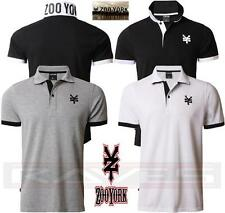 Mens Zoo York Pique Polo Shirt Short Sleeve T-shirt Top Tower