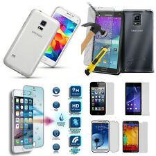 100% Tempered Glass Ultra Thin Clear TPU Case Cover For Mobile Phones Samsung