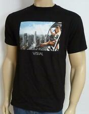 Visual By Van Styles Helicopter View Mens Black 100% Cotton T-Shirt New NWT