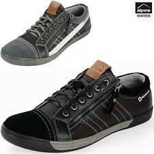 Alpine Swiss Valon Mens Fashion Sneakers Low Top Dress or Casual Comfort Shoes