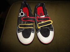 Disney Mickey Mouse Baby Toddler Boy Velcro Athletic Shoes Sneakers Red Black