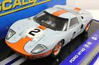 SCALEXTRIC C3325 GULF FORD GT40 DAYTONA W/LIGHTS NEW 1/32 SLOT CAR LIMITED EDIT.