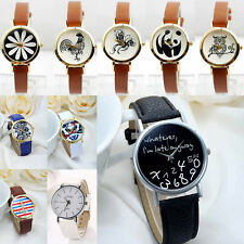 Classic Leather Band Lady Wrist Watch New Style Women Analog Quartz