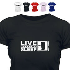 Spray Tanning Mobile Gift T Shirt Eat Live Breathe Sleep Spray Tans 888