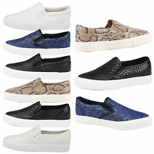 WOMENS PLIMSOLLS LADIES TRAINERS PUMPS SLIP ON GYM SHOES FLATS CASUAL STYLE SIZE