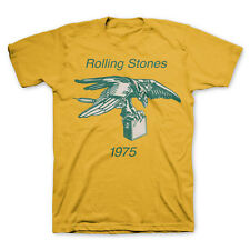 Rolling Stones Eagle Amp 1975 Licensed Adult Band T-Shirt - Yellow