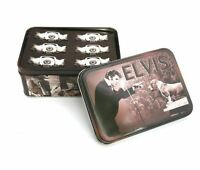 ELVIS PRESLEY HOUND DOG NOTE CARD STICKERS & ENVELOPES SET NEW IN GIFT TIN