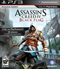 Assassin's Creed IV 4 Black Flag w/CASE GREAT Sony Playstation 3 PS3