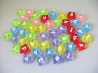 1300PCS Mixed colour flower alphabet beads W18700