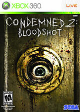 CONDEMNED 2 BLOODSHOT XBOX 360! FIGHT, CRIME, SERIAL KILLER, ZOMBIE ADVENTURE