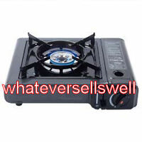 PORTABLE BUTANE GAS COOKER stove cooking camping camp cartridge