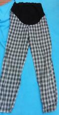 NEXT MATERNITY 10 uk ladies black check soft high waist trousers over bump 29'