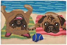Liora Manne Frontporch 1520/44 Pug Life Multi Area Rug 20 Inches X 30 Inches
