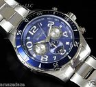 NEW Invicta Mens Stainless Steel Chronograph Blue Dial Prodiver Watch !!