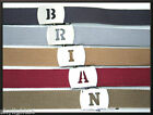 Military Canvas WEB Belt H to N INITIALED SILVER Buckle