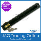 AQUATRACK HEAVY DUTY OUTBOARD BOAT MOTOR LOCK & BRASS PADLOCK SUITS UP TO 50HP