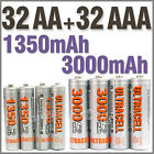 32 AA+32 AAA 1350mAh 3000mAh 1.2V NI-MH rechargeable battery 2A 3A Ultracell
