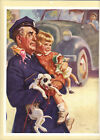 Policeman, Girl, Doll, Puppy, Truck, Salesman Sample Calendar Large Print 1940s