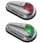 Boat Marine Navigation Side Lights Perko Chrome Plated Brass Vertical - Pair