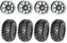 Kit 4 Interco Super Swamper Tires 25x9.5-12/25x12.5-12 on ITP SS216 Machined ACT