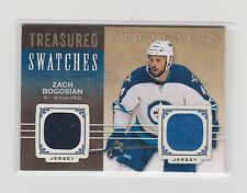 2014-15 UD  ARTIFACTS TREASURED SWATCHES DUAL JERSEY ZACH BOGOSIAN